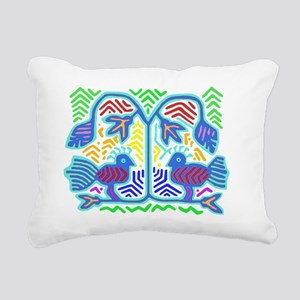 TWO BIRDS Rectangular Canvas Pillow