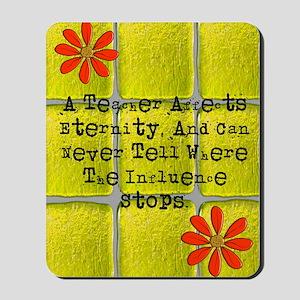 retired teacher tiles blanket 2 Mousepad