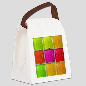 Retired Teacher Tiles PIllow Canvas Lunch Bag