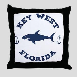 shark-keywest-LTT Throw Pillow