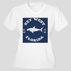shark-keywest-BUT Women's Plus Size V-Neck T-Shirt