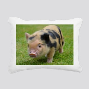 Little Spotty micro pig Rectangular Canvas Pillow