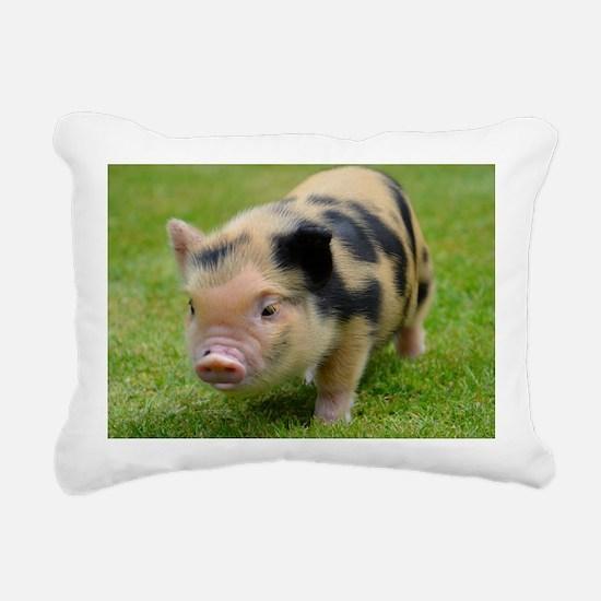 Little Spotty micro pig Rectangular Canvas Pillow