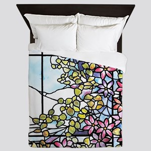 Floral Skylight - Fenway Gate Queen Duvet