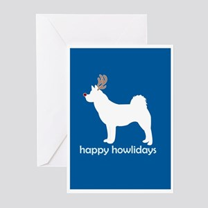 "Akita ""Happy Howlidays"" Greeting Cards (Package of"