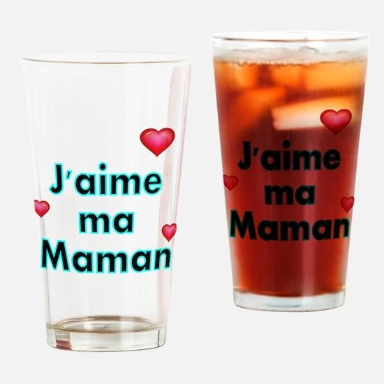 Jaime ma Maman 2 Drinking Glass