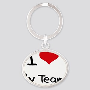 I love My Team Oval Keychain