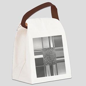 metal art silver Canvas Lunch Bag