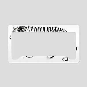 Tiger silhouette License Plate Holder