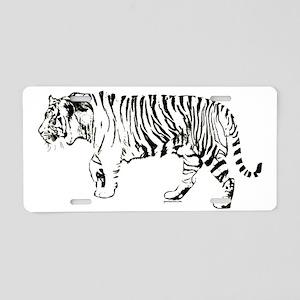 Tiger silhouette Aluminum License Plate