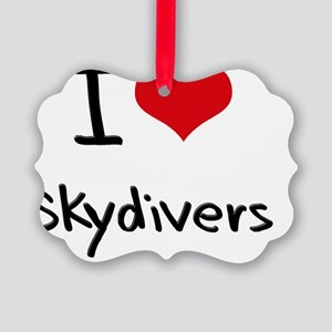 I love Skydivers Picture Ornament