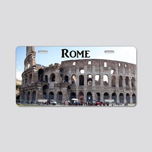 Rome_18.8x12.6_Colosseum Aluminum License Plate