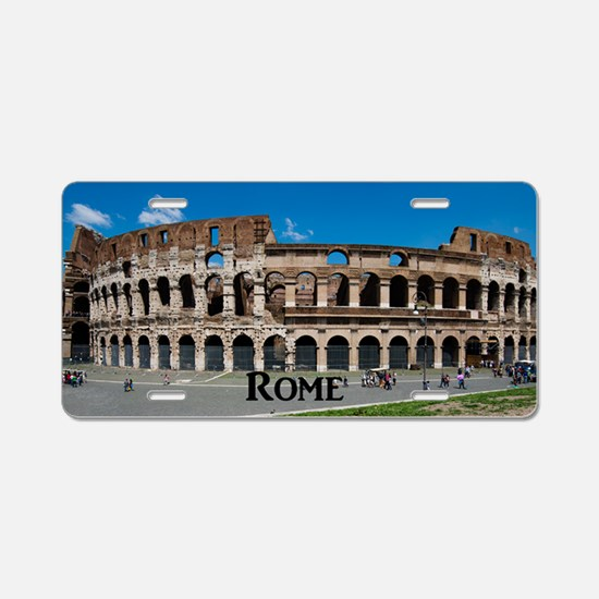 Rome_17.44x11.56_LargeServi Aluminum License Plate