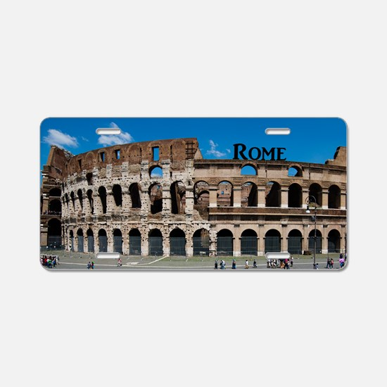 Rome_12.2x6.64_Colosseum Aluminum License Plate