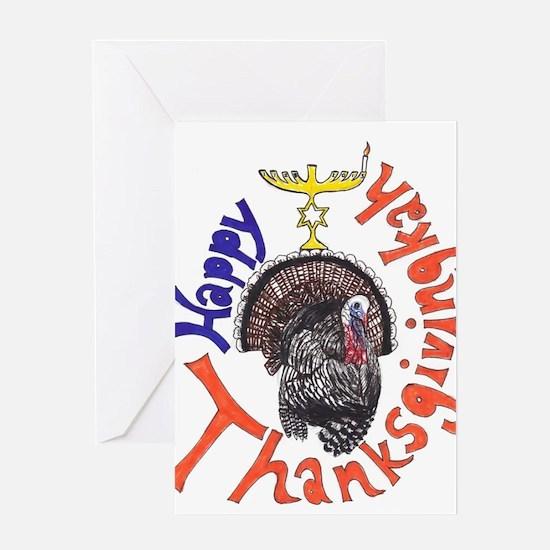 Happy Thanksgivingkah Greeting Cards