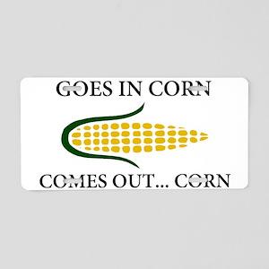 Goes in corn Aluminum License Plate