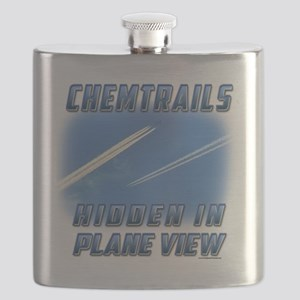 Chemtrails - Hidden in Plane View Flask