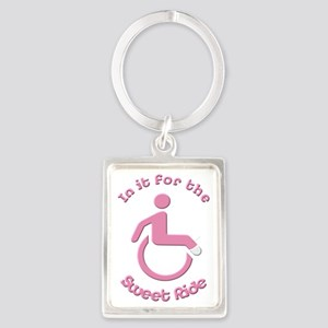 In it for the Sweet Ride Portrait Keychain