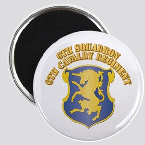 DUI - 6th Squadron - 6th Cavalry Regiment With Tex