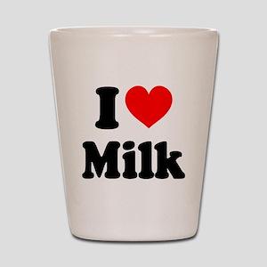 I Heart Milk Shot Glass