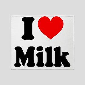 I Heart Milk Throw Blanket