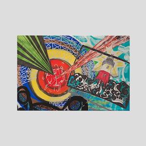 Frank Stella Rectangle Magnet