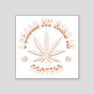 """weed-seattle-DKT Square Sticker 3"""" x 3"""""""