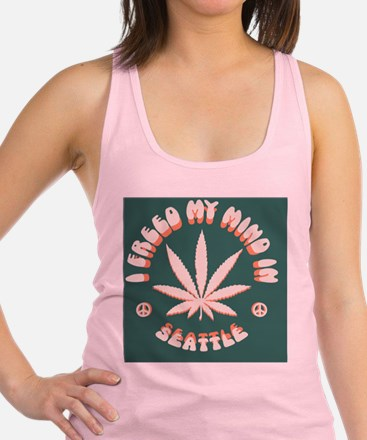 weed-seattle-BUT Racerback Tank Top