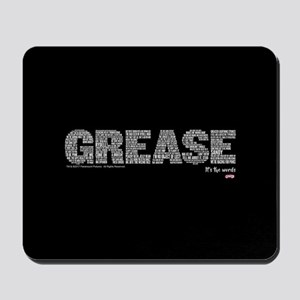 Grease It's The Words Mousepad