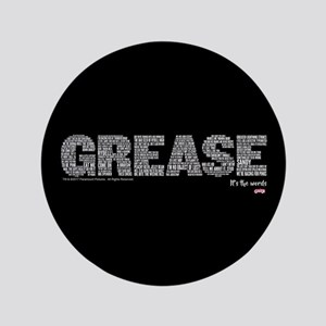 """Grease It's The Words 3.5"""" Button"""