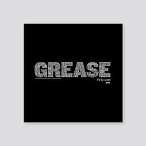 "Grease It's The Words Square Sticker 3"" x 3"""