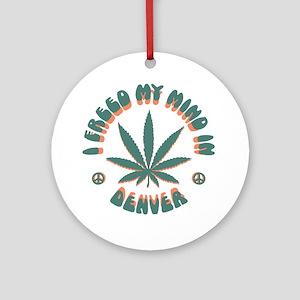 weed-denver-LTT Round Ornament