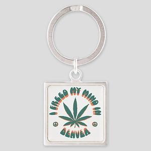 weed-denver-LTT Square Keychain