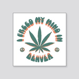 "weed-denver-LTT Square Sticker 3"" x 3"""