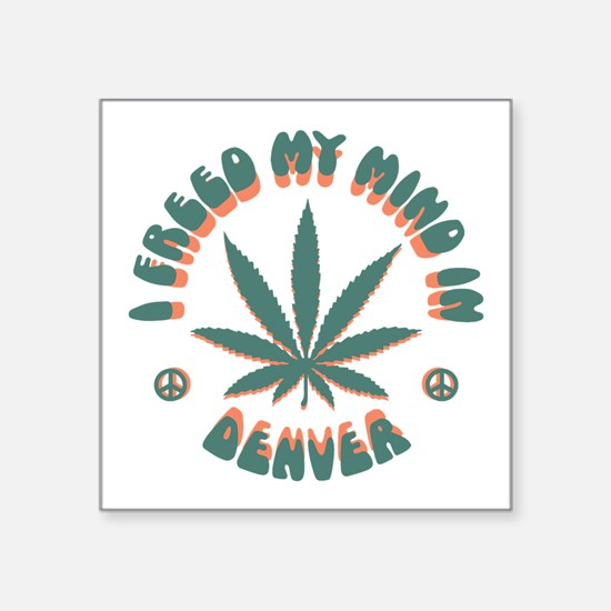 "weed-denver-LTT Square Sticker 3"" x 3"""