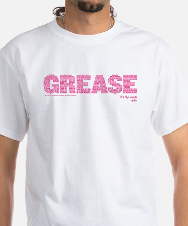 Grease It's The Words White T-Shirt