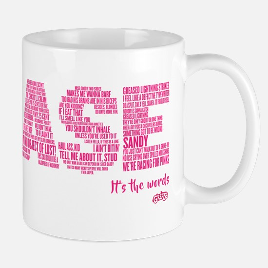 Grease It's The Words Mug