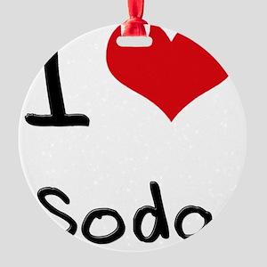 I love Soda Round Ornament