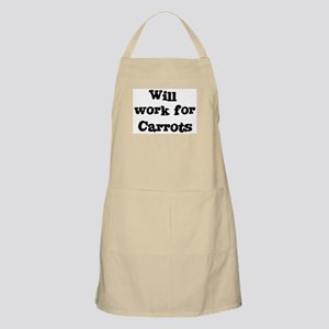 Will work for Carrots BBQ Apron