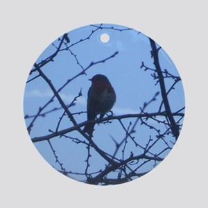 Robin at Dawn Ornament (Round)