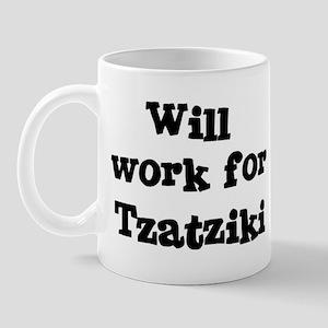 Will work for Tzatziki Mug