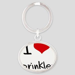 I love Sprinkles Oval Keychain