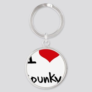 I love Spunky Round Keychain