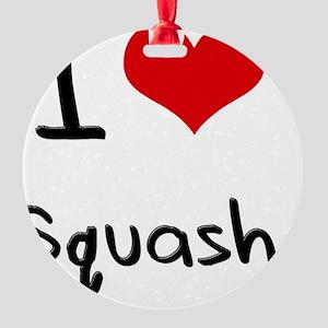 I love Squash Round Ornament