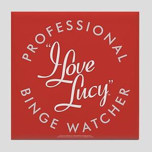 Professional I Love Lucy Binge Watche Tile Coaster