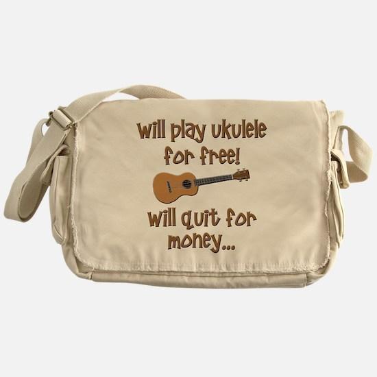funny ukulele uke designs Messenger Bag