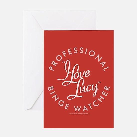 Professional I Love Lucy Binge Watch Greeting Card