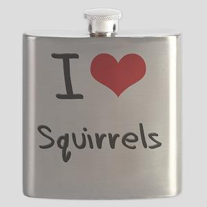 I love Squirrels Flask