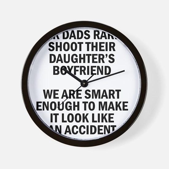 Geek Dads Rarely Shoot (Lt) Wall Clock