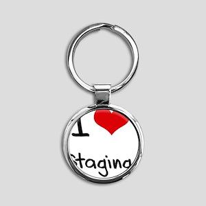 I love Staging Round Keychain